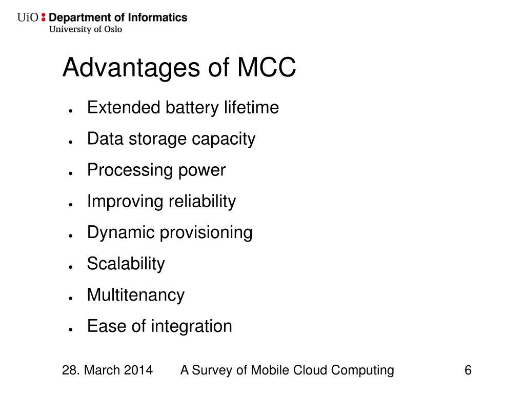 PPT - A Survey of Mobile Cloud Computing: Architecture