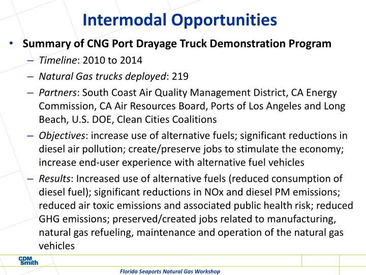 Intermodal Opportunities