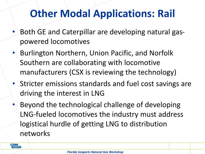 Other Modal Applications: Rail