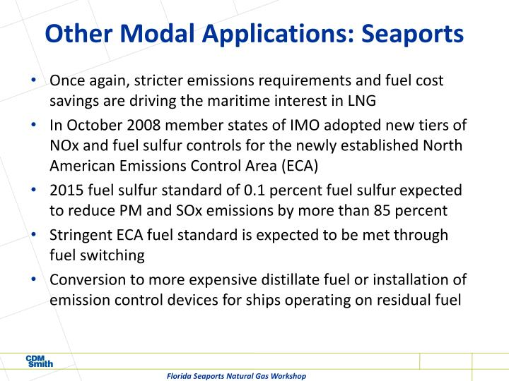 Other Modal Applications: Seaports