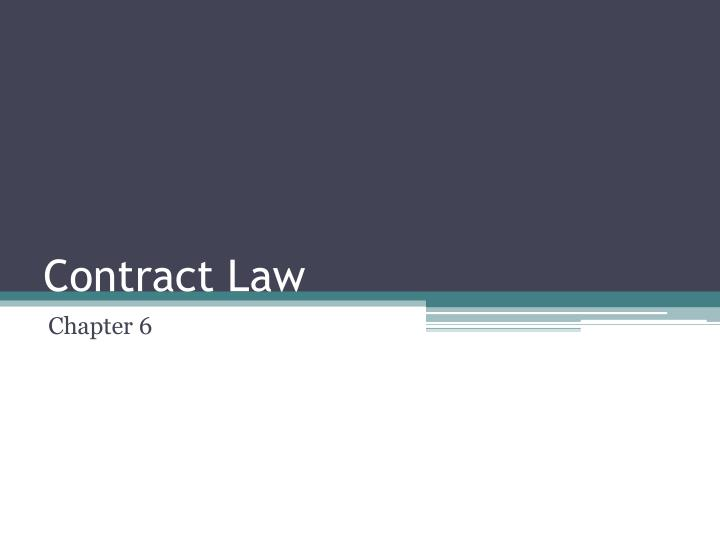 contract law n.