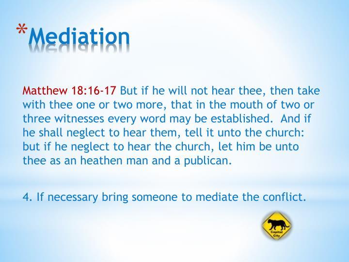 Matthew 18:16-17