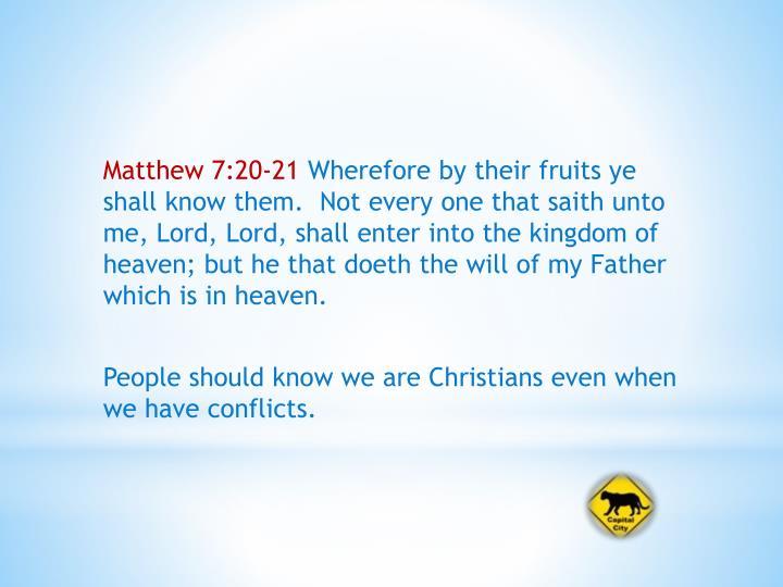 Matthew 7:20-21
