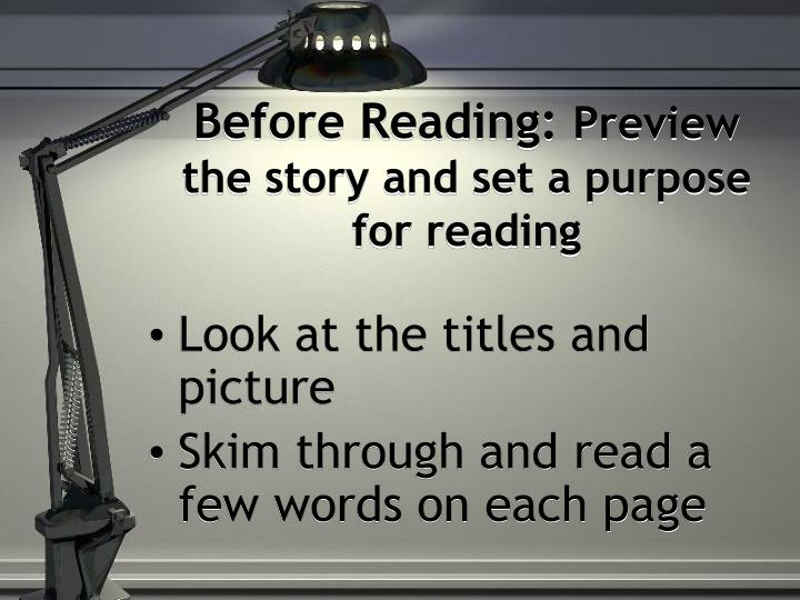 Before Reading: