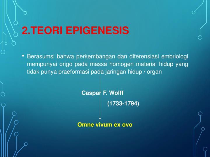 2.TEORI EPIGENESIS