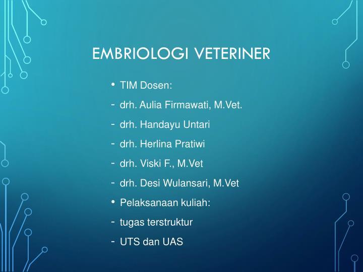 Embriologi veteriner1