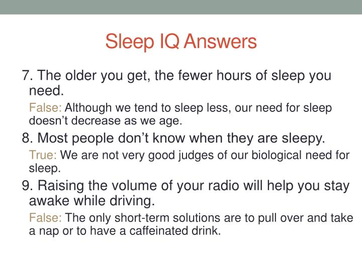 Sleep IQ Answers