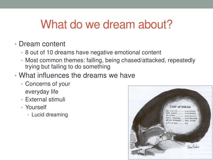 What do we dream about?