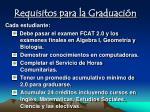 requisitos para la graduaci n