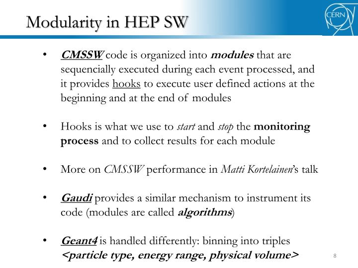 Modularity in HEP SW