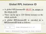 global rpl instance id