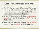 local rpl instance id cont1