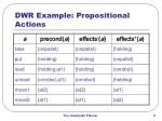 dwr example propositional actions