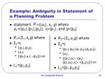 example ambiguity in statement of a planning problem