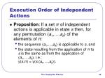 execution order of independent actions