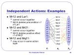 independent actions examples