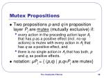 mutex propositions