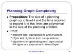 planning graph complexity