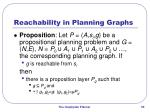 reachability in planning graphs