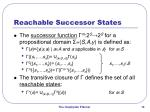 reachable successor states