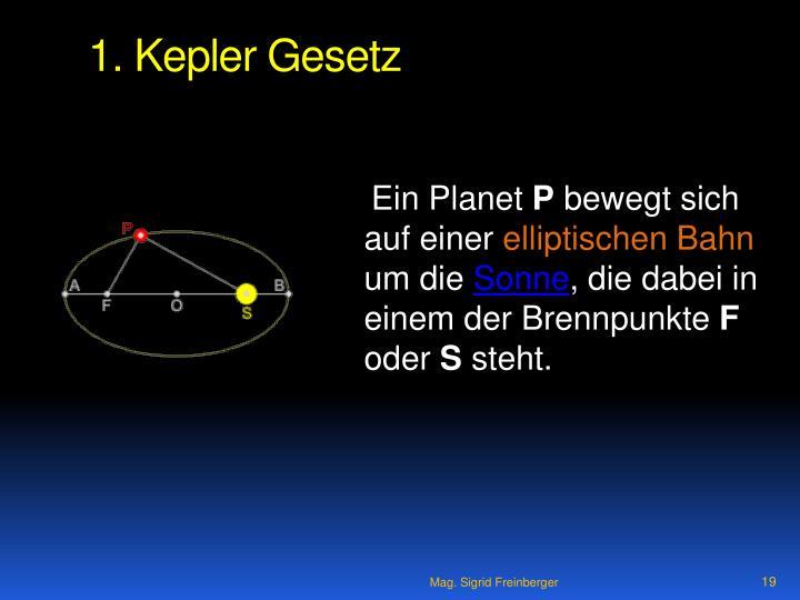 1. Kepler Gesetz