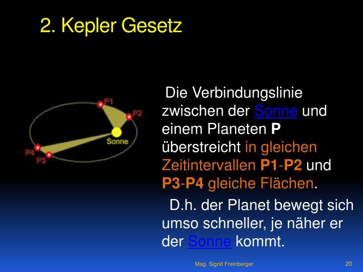 2. Kepler Gesetz
