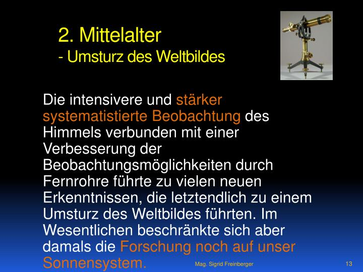 2. Mittelalter