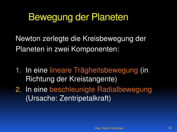 Bewegung der Planeten