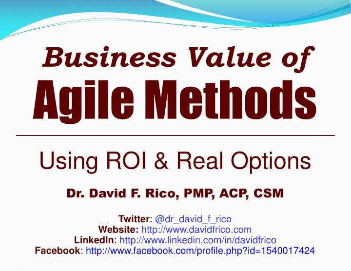 Ppt Business Value Of Agile Methods Powerpoint Presentation Free Download Id 1981434