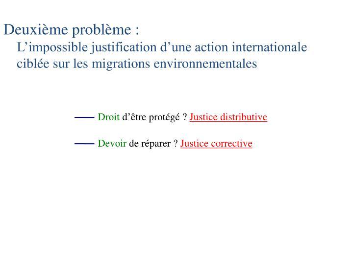 Deuxième problème: