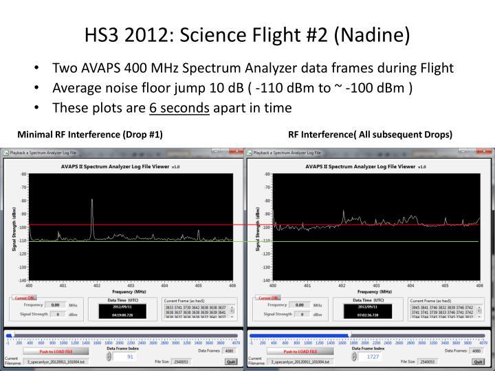 HS3 2012: Science Flight #2 (Nadine)
