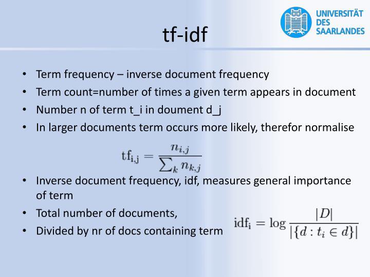 tf-idf
