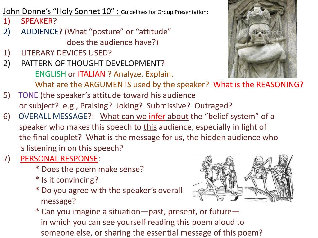 Ppt John Donne S Holy Sonnet 10 Guideline For Group Presentation Powerpoint Id 1982225 14 Line By Analysis Analysi