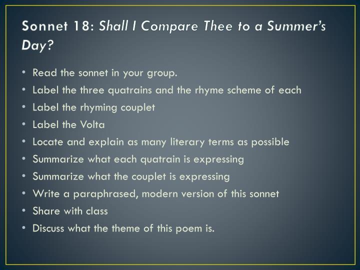 sonnet 18 tone