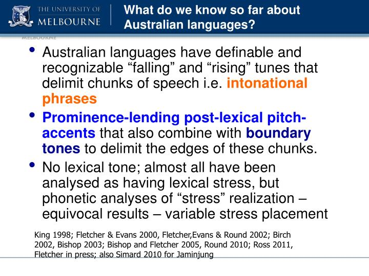 What do we know so far about Australian languages?