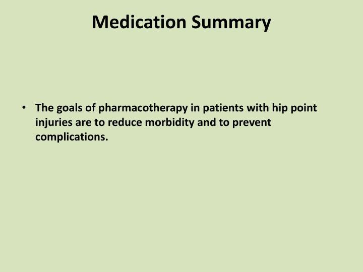 Medication Summary