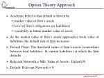 option theory approach