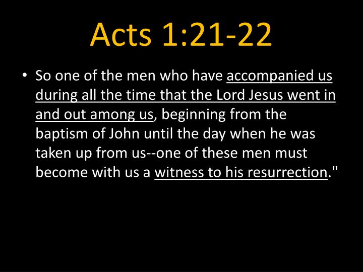 Acts 1:21-22