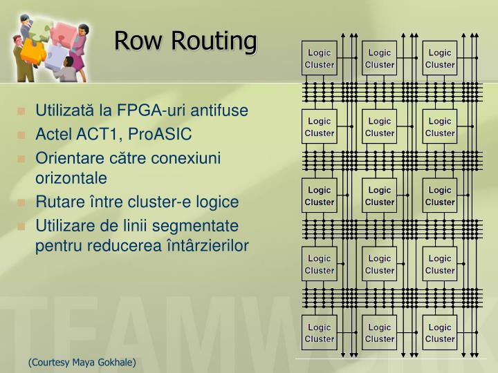 Row Routing