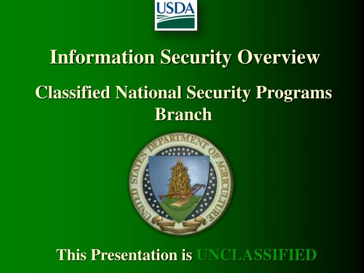 information security overview n.