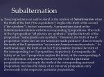 subalternation