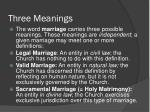 three meanings
