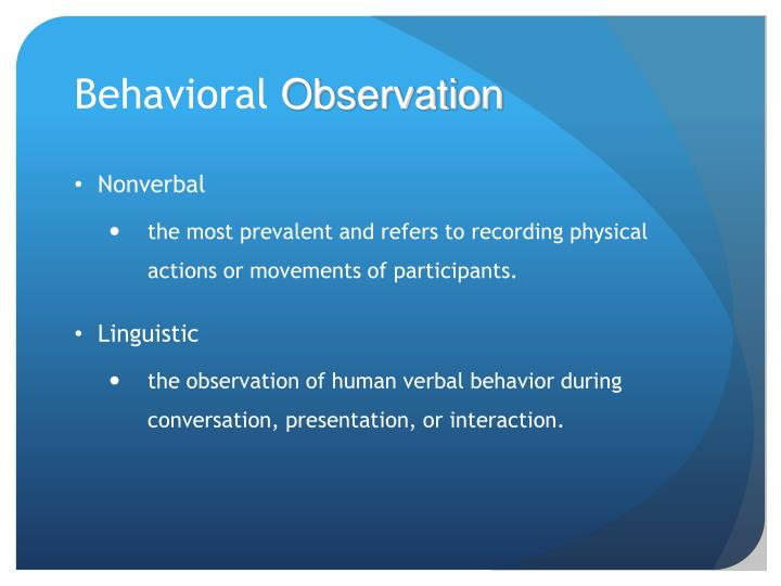 nonverbal observation report