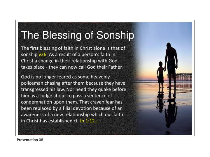 The Blessing of Sonship