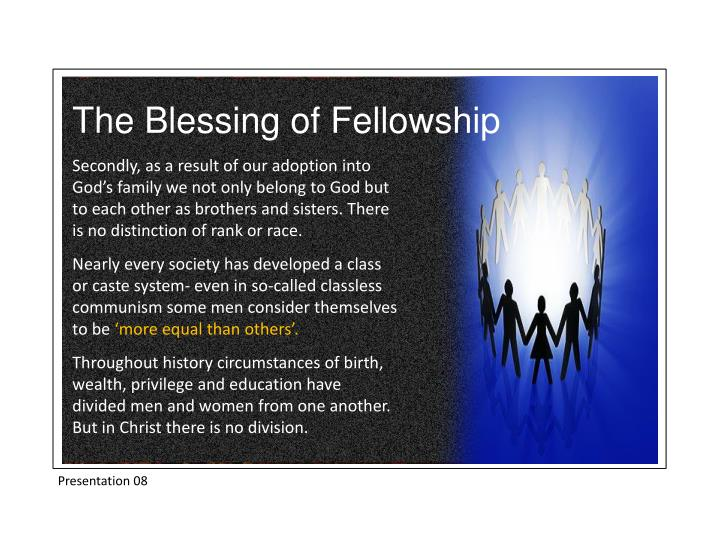 The Blessing of Fellowship