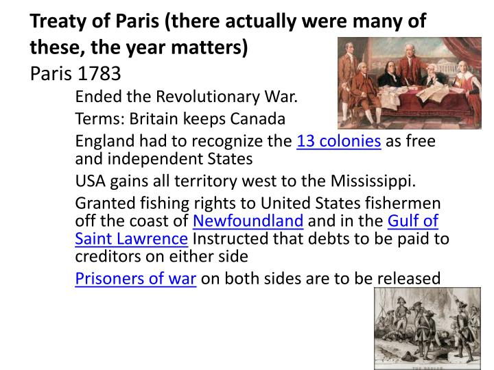 a history of the paris treaty of 1783 The paris peace treaty 1783: the treaty of paris terms: american independence recognized all territory east of the mississippi river between canada and florida is ceded to the united states.