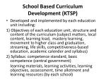 school based curriculum development ktsp