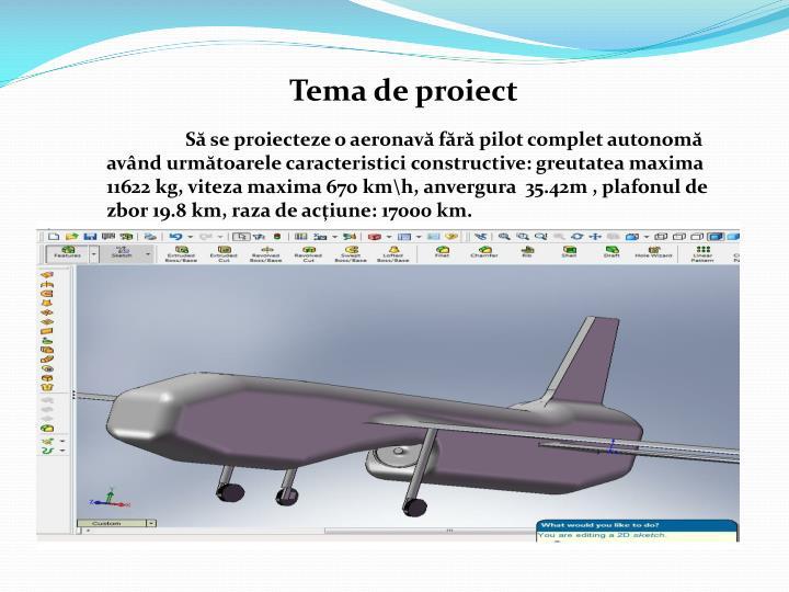 Tema de proiect
