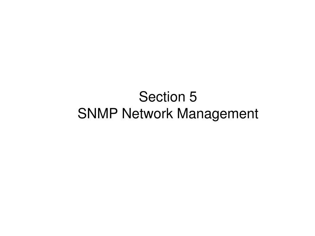PPT - CN8861 Network & Service Management Spring 2014