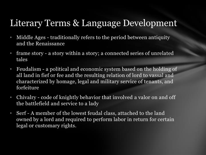 Literary Terms & Language Development